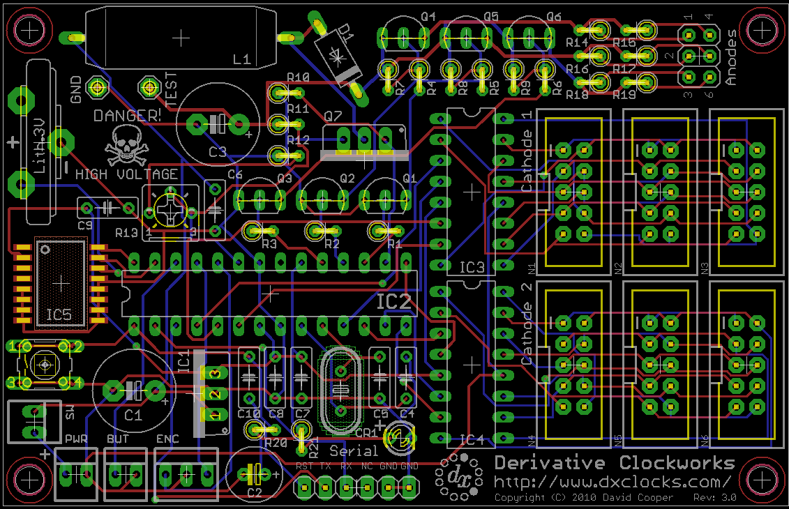 Dave Coopers Nixie Tube Page Clock Circuit Included Most Of The Fixes From Older Schematic Below